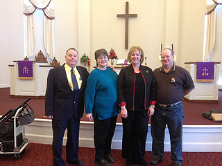 Pastor Dave, wife Linda, Bonnie and Don.